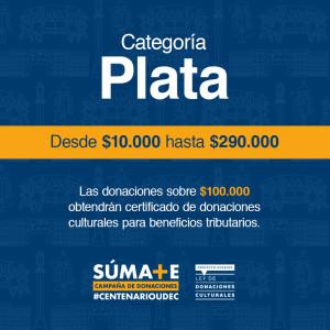 A.- Donación Centenario - Categoría Plata