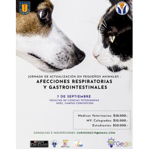 MV: Jornada Actualización En Afecciones Respiratorias Y Gastrointestinales En Pequeños Animales