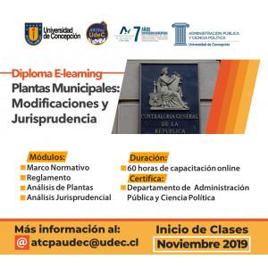 Diploma E- Learning Plantas Municipales: Modificaciones y Jurisprudencia