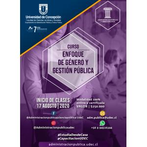 Curso Enfoque de Género y Gestión Pública 2020 II