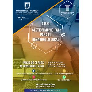 Curso Gestión Municipal para el Desarrollo Local 2020