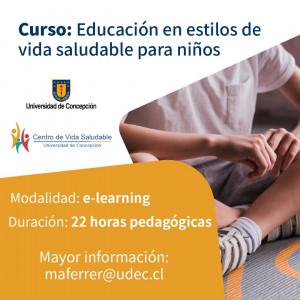 Curso Educación en estilos de vida saludable para niños online