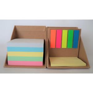 Cubo ecológico con notas adhesivas